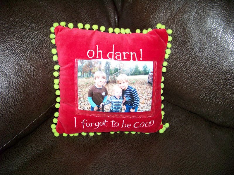 The Ferrell Boys And Me How To Make A Picture Frame Pillow