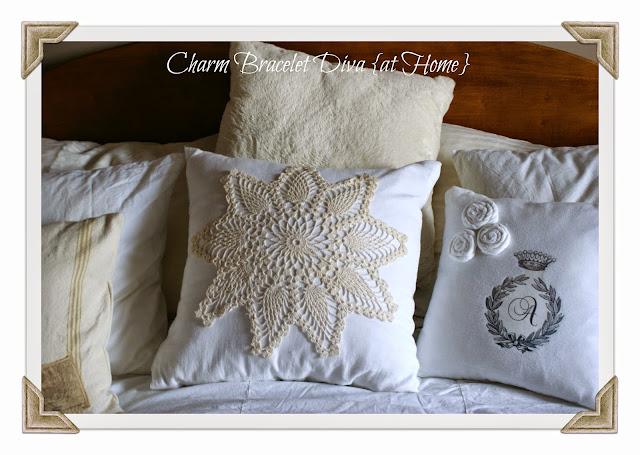 DIY floursack pillow