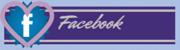 Botón Facebook corazón gris