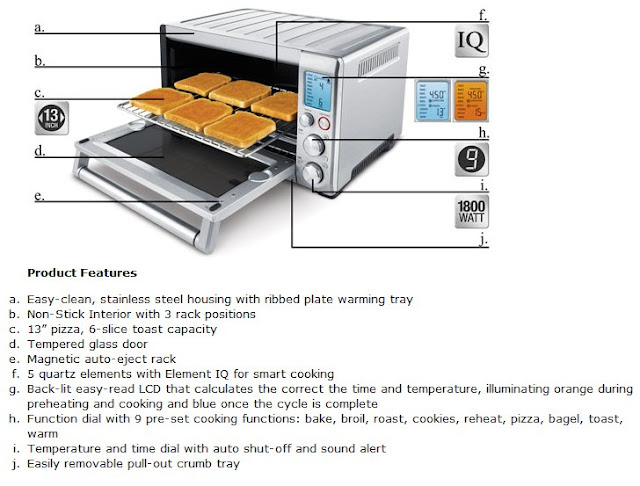 Breville Countertop Convection Oven Warranty : Breville BOV800XL The Smart Oven 1800-Watt Convection Toaster Oven ...