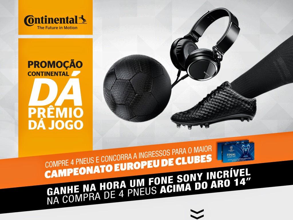 """Promoção """"Continental Dá Prêmio Dá Jogo"""""""