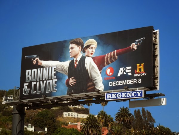 Bonnie & Clyde TV mini-series remake billboard