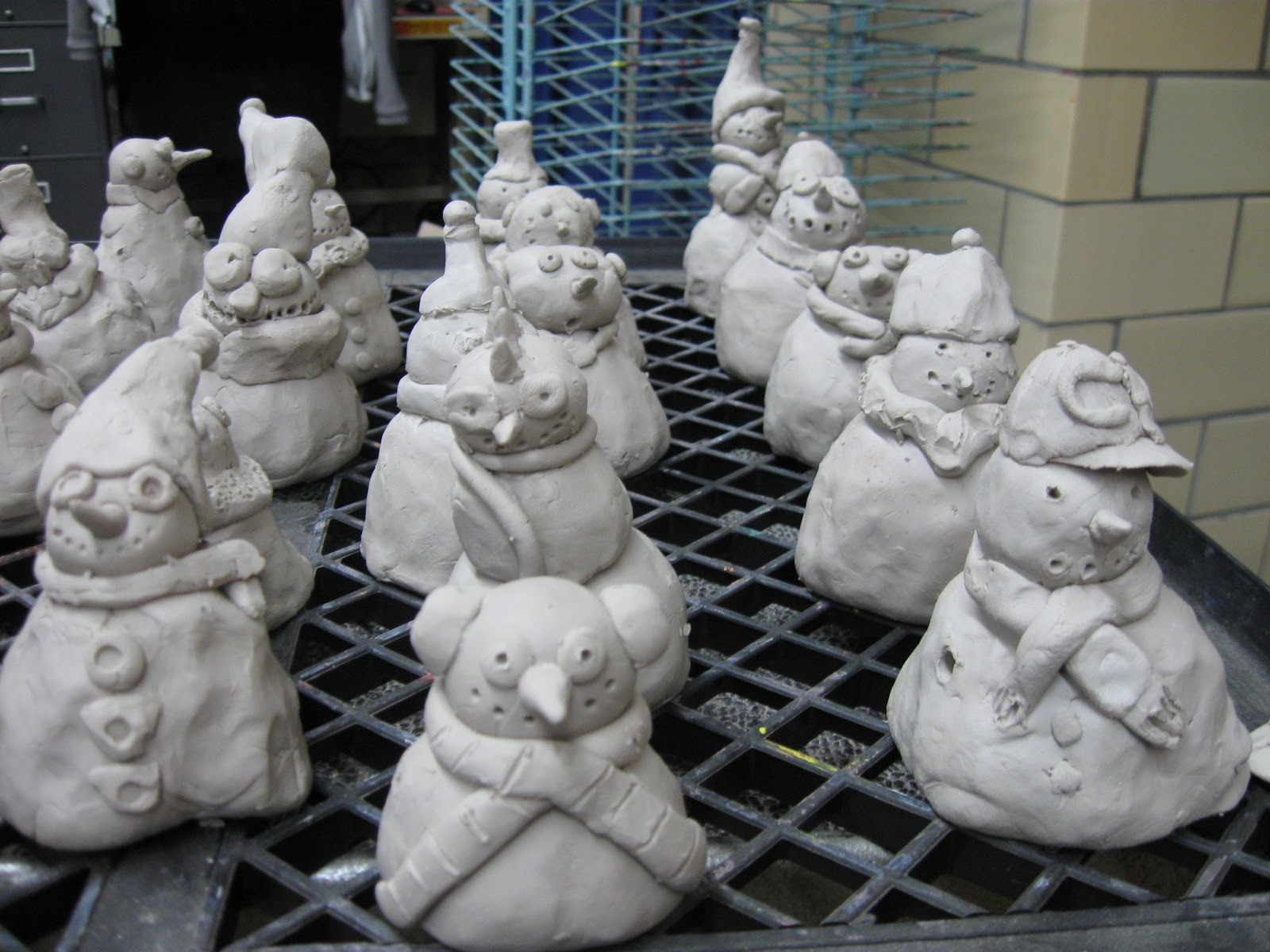 The paper pear 5th grade clay snowmen for Paper clay projects