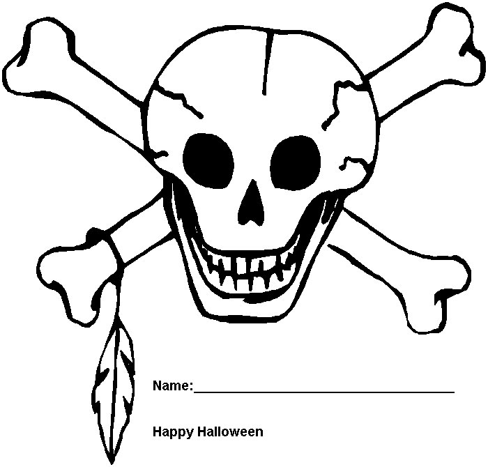 halloween coloring pages Halloween Skeleton Coloring Pages Free