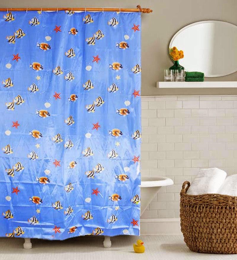 Curtain Ideas Aquatic themed shower curtains