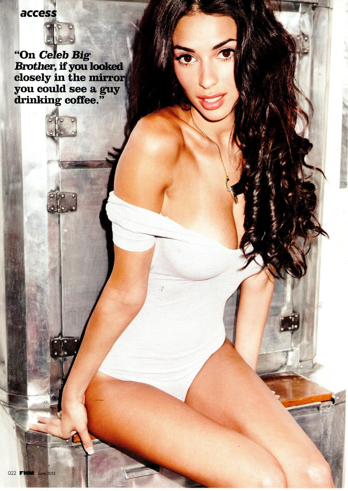 GEORGIA SALPA in FHM Magazine UK June 2012 Issue Just FAB Celebs