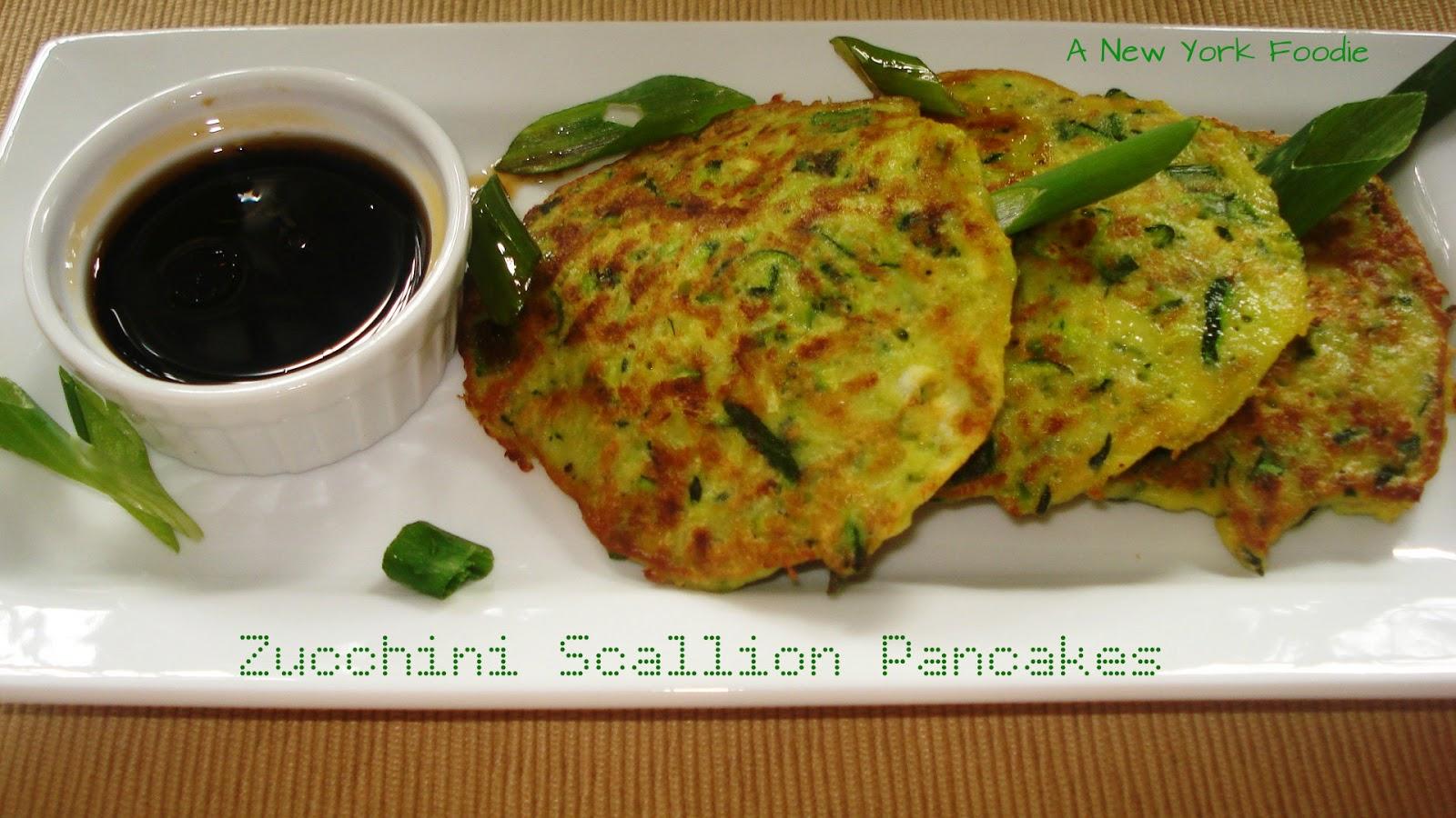 Zucchini Scallion Pancakes A New York Foodie