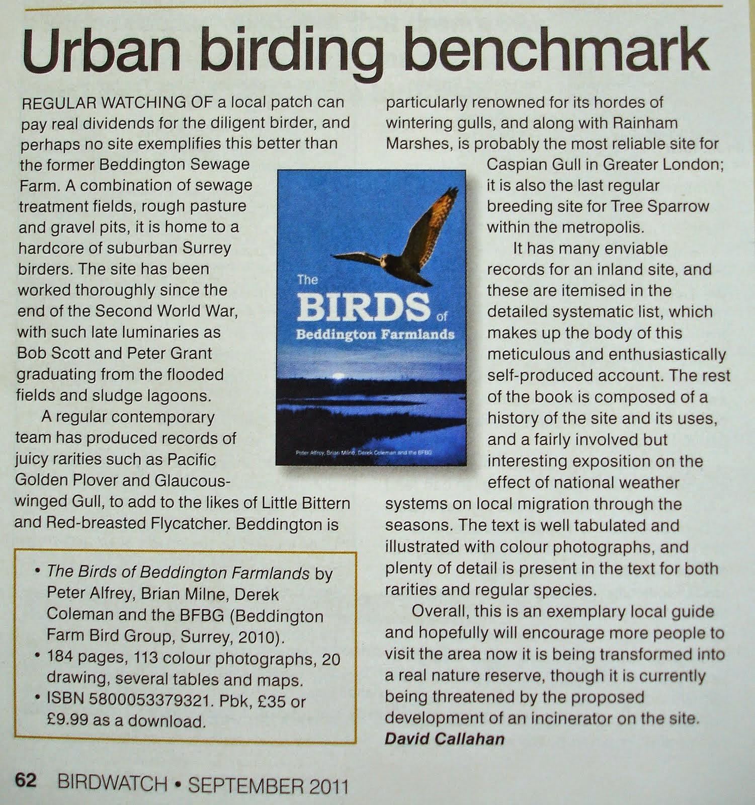 THE BIRDS OF BEDDINGTON FARMLANDS
