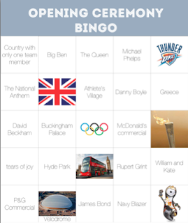 Opening Ceremonies Bingo Game