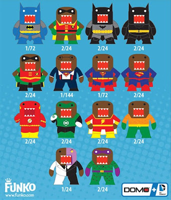 DC Comics x Domo Mystery Minis Blind Box Mini Figure Series by Funko Checklist and Rations