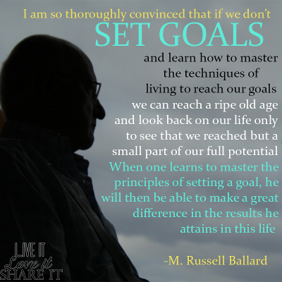 I am so thoroughly convinced that if we don't set goals in our life and learn how to master the techniques of living to reach our goals, we can reach a ripe old age and look back on our life only to see that we reached but a small part of our full potential. When one learns to master the principles of setting a goal, he will then be able to make a great difference in the results he attains in this life. - M. Russell Ballard