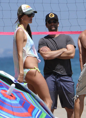 Alessandra Ambrosio Playing Beach Volleyball in Malibu