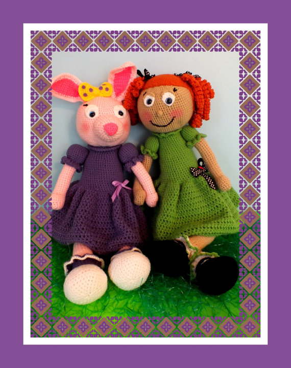 Meet Zoe Girl© & Her Bunny Buddy Jelly Bean© By Connie Hughes Designs©