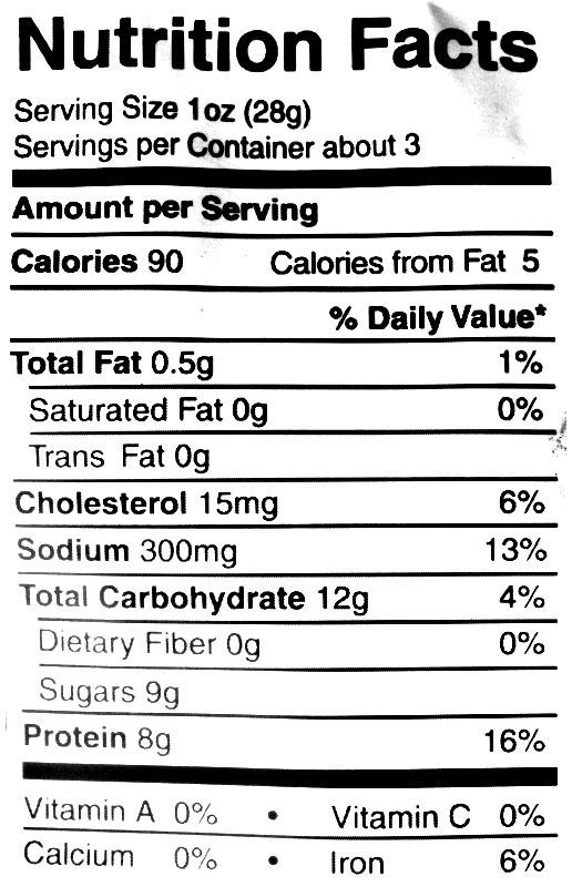 krave jerky nutrition