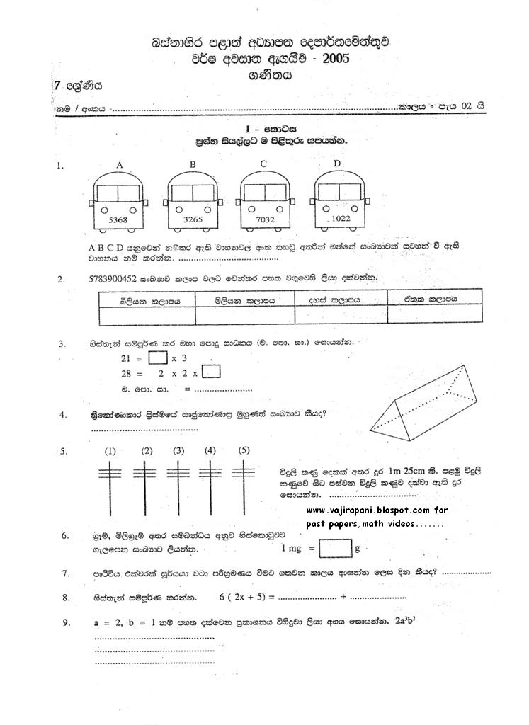 mathematics grade 10 past papers