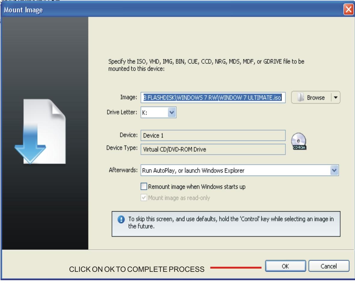how to create virtual cd dvd drive in windows 7