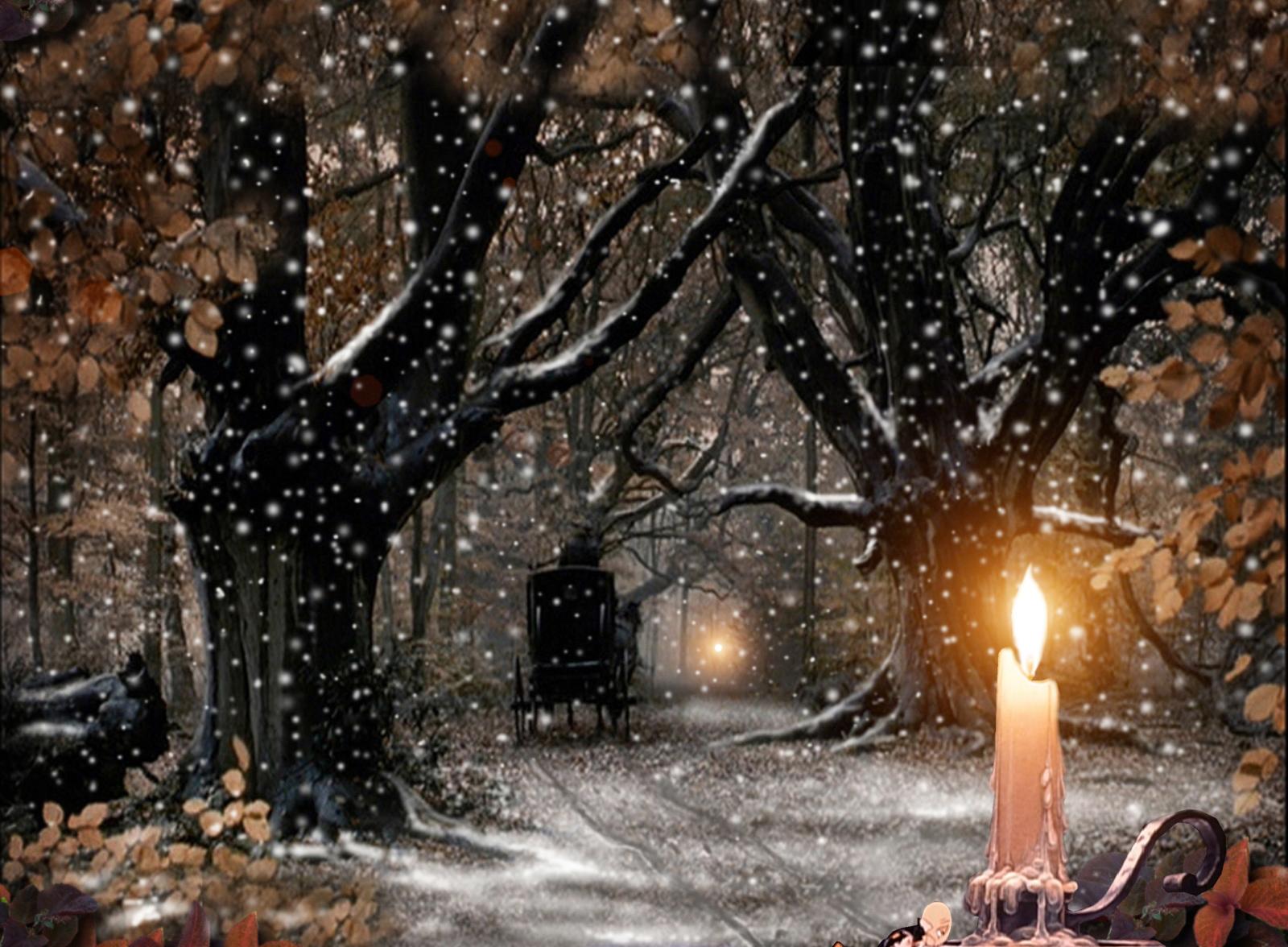 Free Christmas Wallpapers: Christmas Snowfall Wallpapers