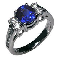 51st Anniversary Gift Blue Sapphire Ring