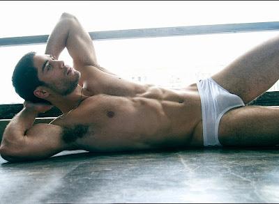 Male Underwear Model Hairy Armpits