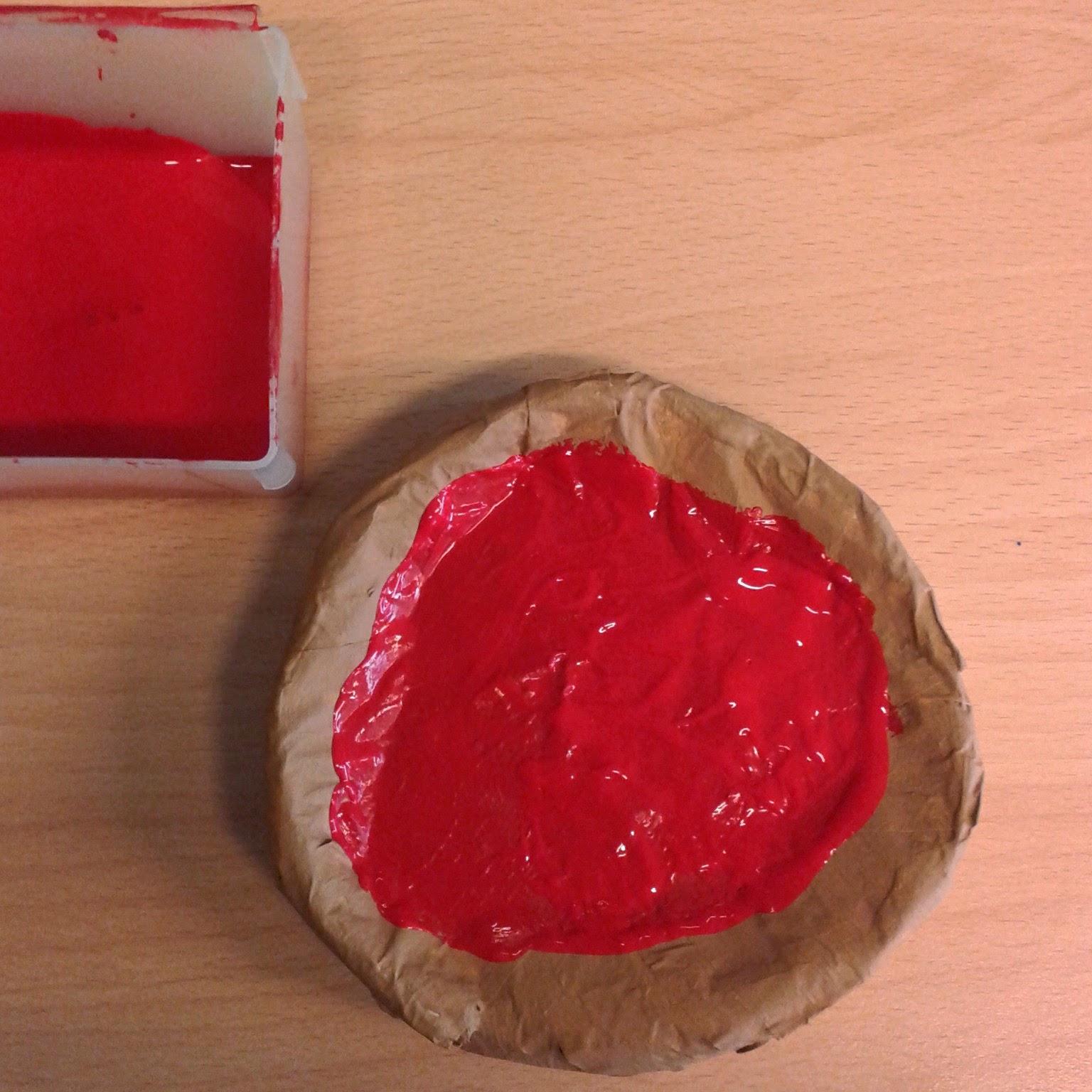 Creanka tutorial pizza van kaasdoosjes - Maken rode verf ...
