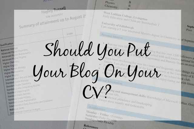 Should you include your blog on your CV or resume