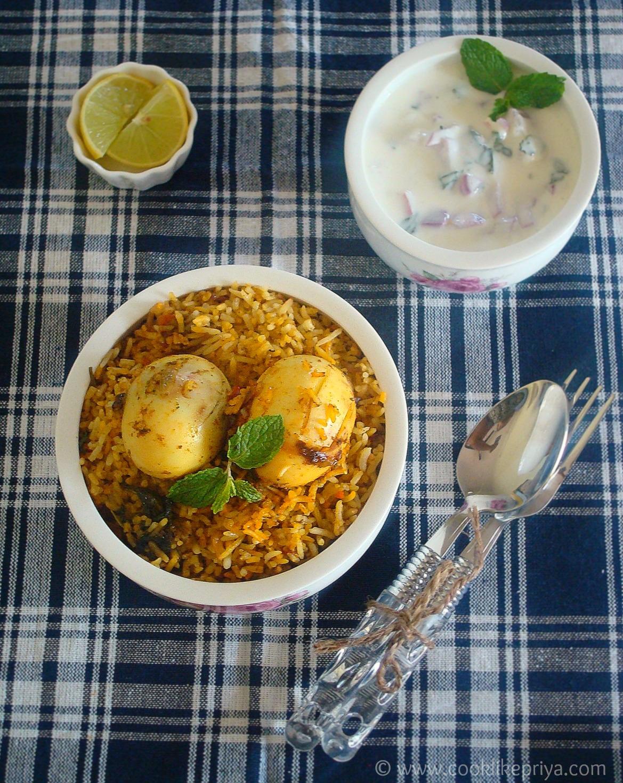 Restaurent style egg biryani