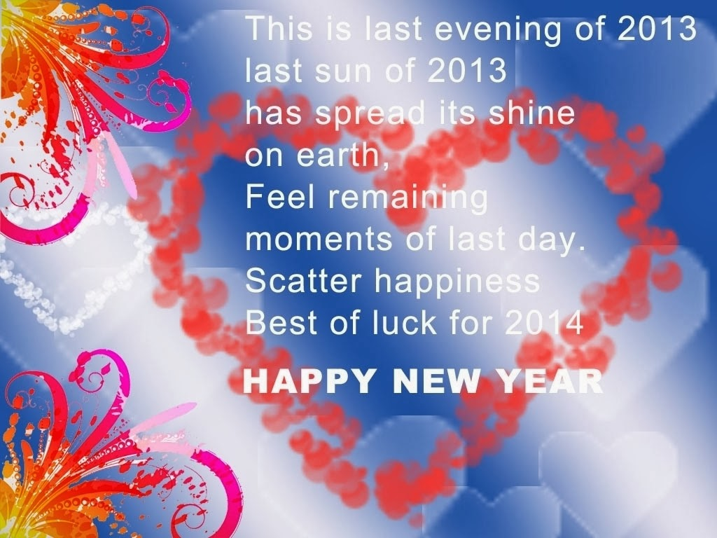 Happy New Year New Year Wishes Quotes 2014 Beautiful Happy New Year