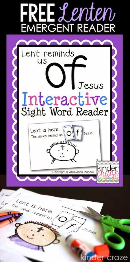 FREE Lenten emergent reader… perfect for Christian Kindergarten classrooms