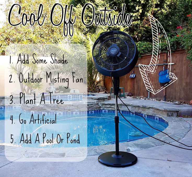 The NewAir AF-520B 18 Inch Misting Fan provides ultra quite cooling with 3 adjustable feeds. Us it with or without a mist to cool an outdoor space up to 500 square feet. See more tips to stay cool this Summer on our blog post. #sponsored
