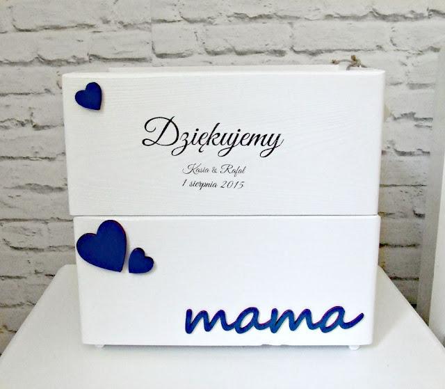 podziękowania dla rodziców pudełka skrzyneczki dla mamy i taty Eco Manufaktura
