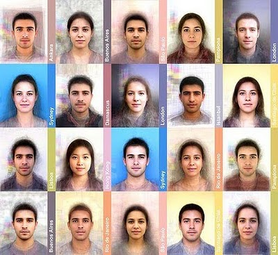 "Some of the ""average"" faces from around the world"