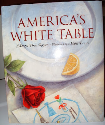 http://www.amazon.com/Americas-White-Table-Margot-Theis/dp/1585362166/ref=sr_1_1?s=books&ie=UTF8&qid=1383485049&sr=1-1&keywords=americas+white+table
