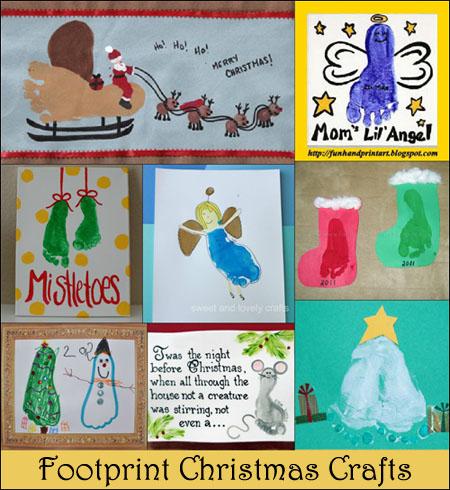 Footprint christmas art amp crafts for kids