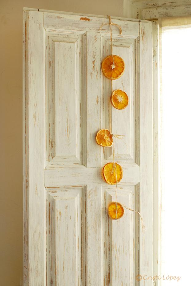 guirnalda naranjas secas