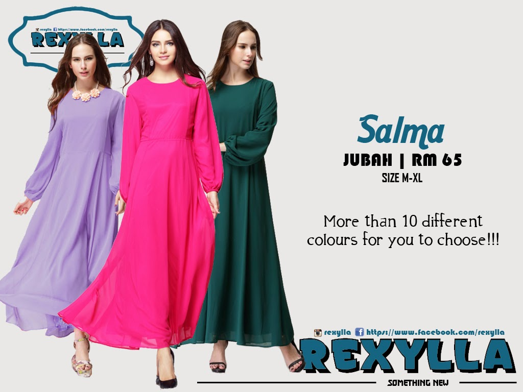 rexylla, jubah, salma collection