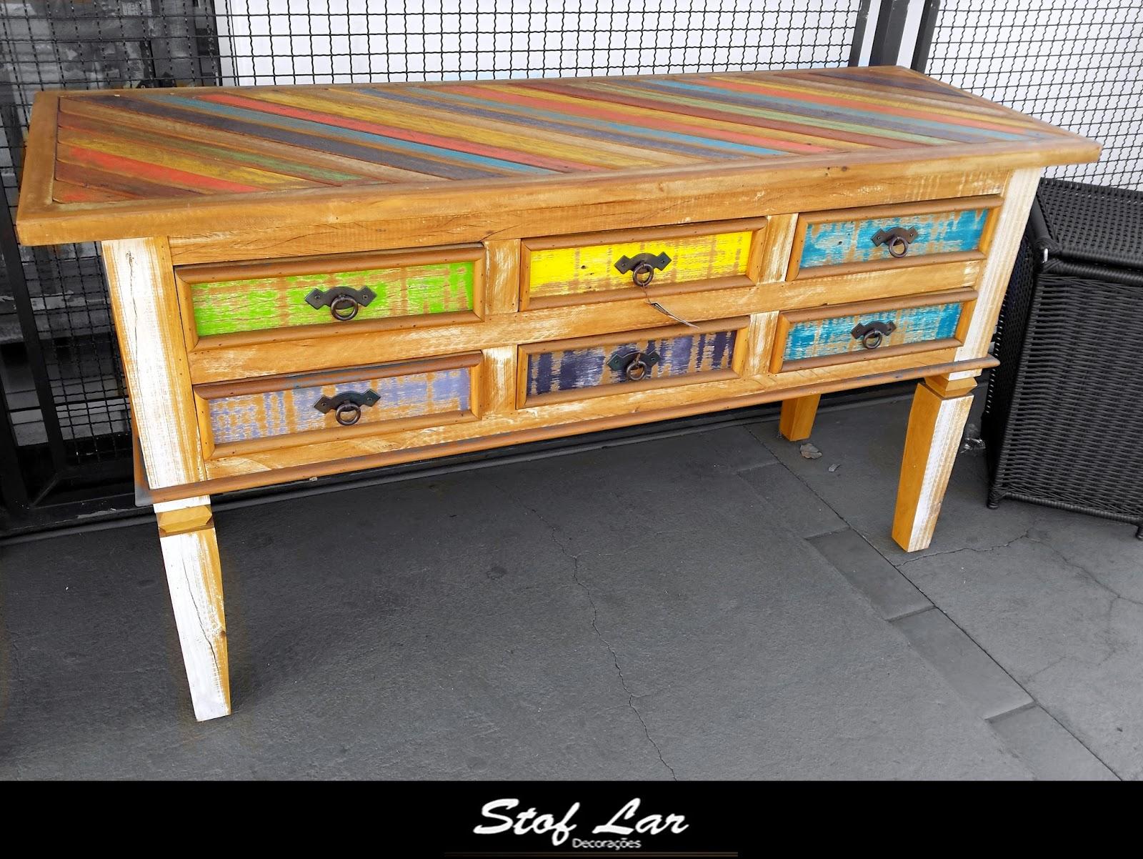 Aparador modelo Samaria Colorido feito de madeira de peroba r  #AFA01C 1600x1202