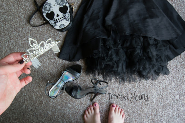 Allison Parris Peek of Tulle dress Rent the Runway tiara birthday