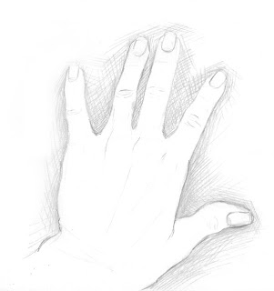 line drawing of hand