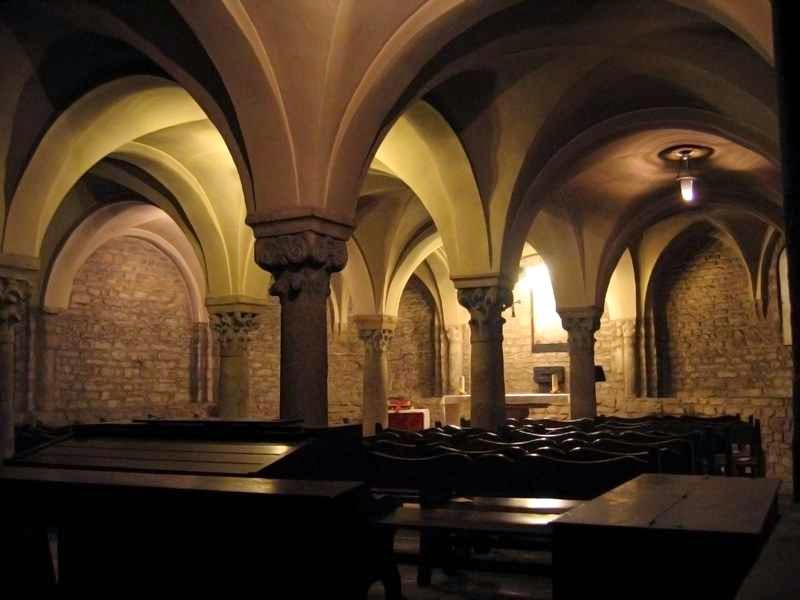 Crypt of the cathedral of Vic