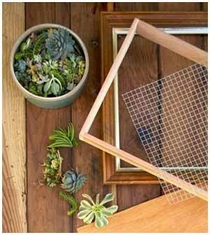 un marco de madera con profundidad y listones