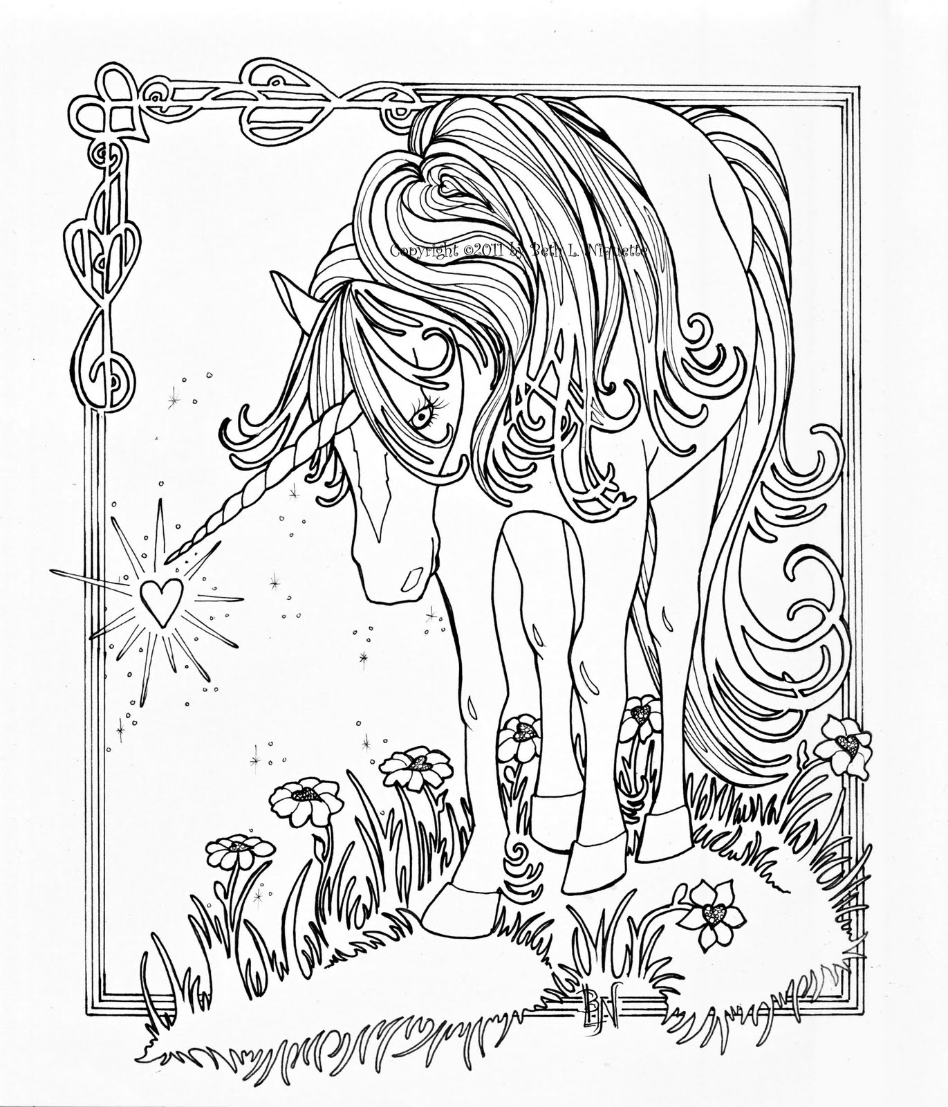 Coloring Pages For Unicorns : Free coloring pages of unicorn fairy