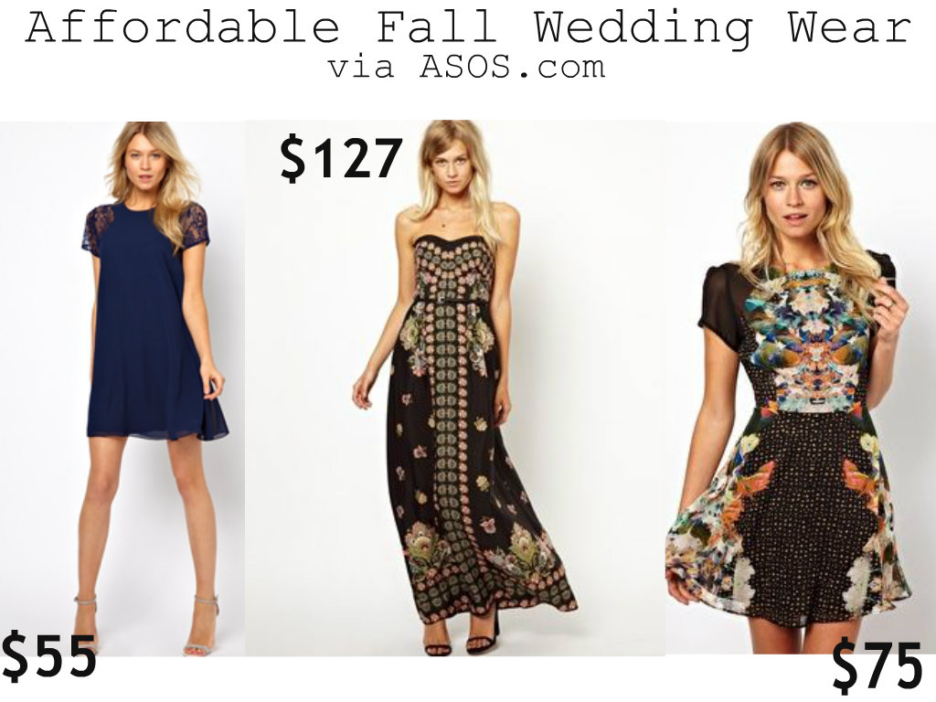 Fall Wedding Wear Asos