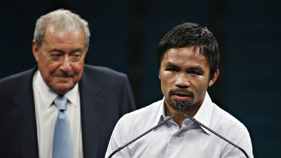 Manny Pacquiao to hang up gloves after April 9 bout, Bob Arum says