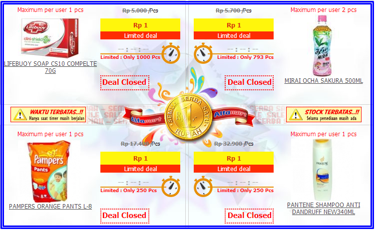 Busyeet... 1 Rupiah bisa buat belanja di AlfaOnline.com ...