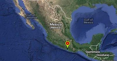Epicentro sismo 5,4 grados en México, 16 de Agosto 2013