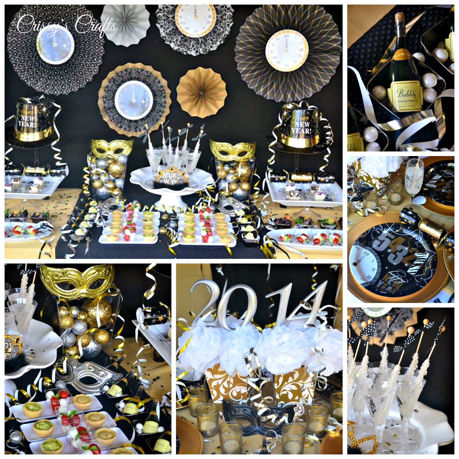 Crissy 39 s crafts new years eve party ideas - Black silver and white party decorations ...