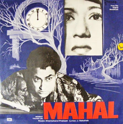 Poster Of Bollywood Movie Mahal (1949) 300MB Compressed Small Size Pc Movie Free Download worldfree4u.com