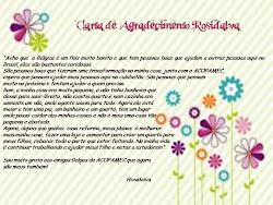 Dankbrief van Rosidalva