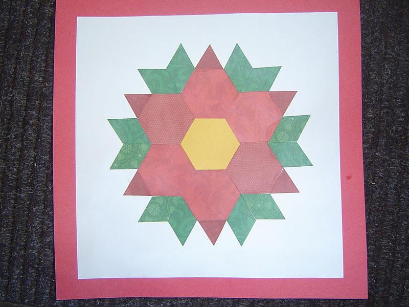 Mrs. T\'s First Grade Class: Pattern Block Poinsettia