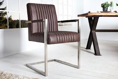 Moderne stolicky v hnedom prevedeni kovove, stolicky reaction, eshop bratislava nabytok